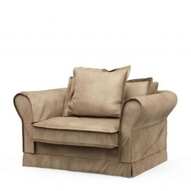 Carlton Love Seat Velvet Golden Beige