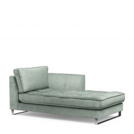 West Houston Chaise Longue Right Velvet Jade