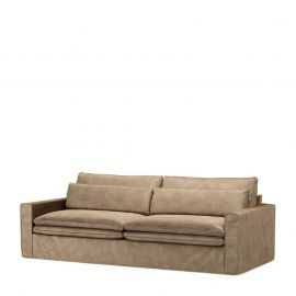 Continental Sofa 3,5S Velvet Golden Beige