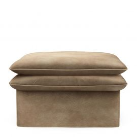 Continental Hocker 105x90 Velvet Golden Beige