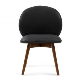 Lake Como Dining Chair Leather Charcoal