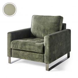 West Houston Armchair Cotton Moss Green