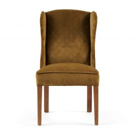William Dining Chair velvet windsor green