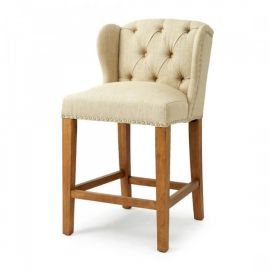 Keith II Lowback Counterstool linen Flax