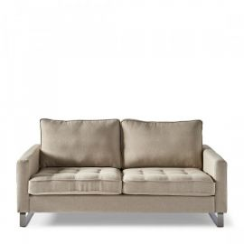 West Houston Sofa 2,5s Oxford Weave Ansvers Flax