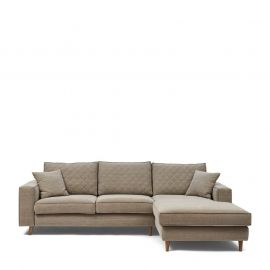 Kendall Sofa with Chaise Longue Right Cotton Stone
