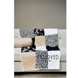 Cafe Floral Reserved Patch Throw 180x130