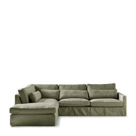 Brompton Cross Corner Sofa Left Forrest Green