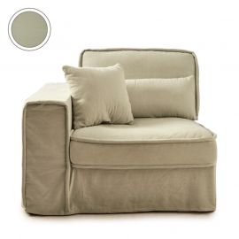 Metropolis Corner Armchair Left Cotton Moss Green