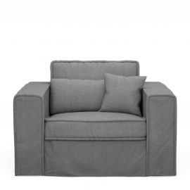 Metropolis Love Seat Cotton Grey