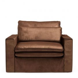 Continental Love Seat Velvet Chocolate