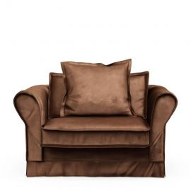Carlton Love Seat Velvet Chocolate