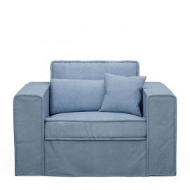 Metropolis Love Seat Ice Blue
