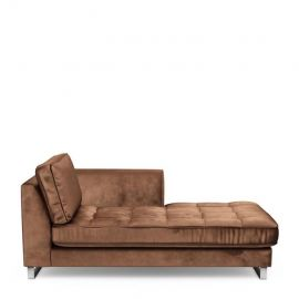 West Houston Chaise Longue Right Chocolate