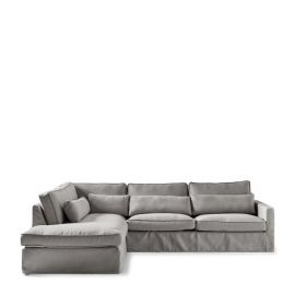 Brompton Cross Corner Sofa Left Steel Grey