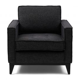 The Jake Armchair melane weave Carbon