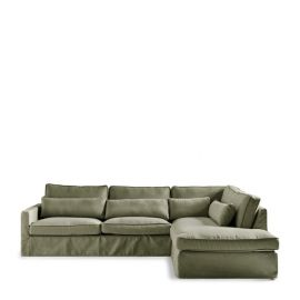 Brompton Cross Corner Sofa Right Forest Green